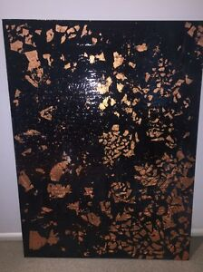 Resin art on canvas Bundall Gold Coast City Preview