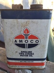Amoco Two Stroke Gallon Tin Gulliver Townsville City Preview