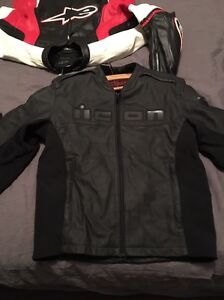 Alpinestars/Icon leather motorcycle jackets Clarence Park Unley Area Preview