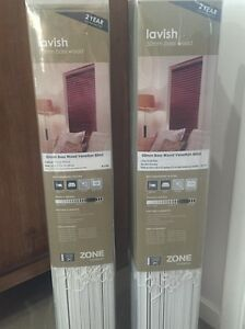 60cm x 210cm White Wood Venetian Blinds (x2) Ormiston Redland Area Preview