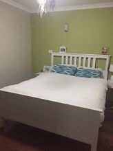 White Timber Queen Bed Frame & Mattress West Perth Perth City Preview
