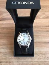 Stylish New Sekonda Black Leather Strap Watch Exeter Port Adelaide Area Preview