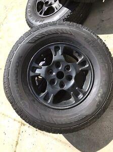 Mitsubishi Pajero 5 alloy wheels and tyres Singleton Rockingham Area Preview