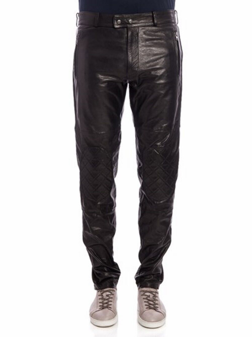 Moschino Pantaloni in pelle, Leather biker trouser