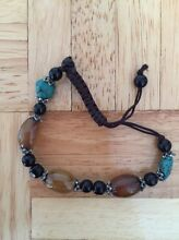Green and brown beaded adjustable bracelet Woodvale Joondalup Area Preview