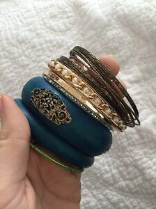 Bulk bangles bracelets blue green rose gold Newcastle Newcastle Area Preview