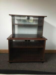 2 X Glass Door Tv Stand/Cabinet Burnie Burnie Area Preview