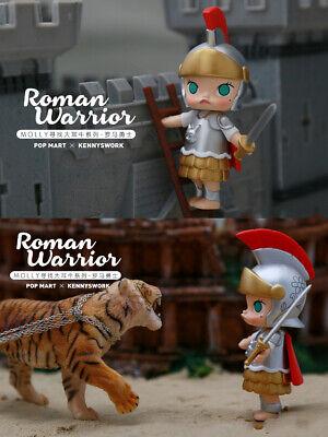 POP MART KENNYSWORK Molly Mini Figure Designer Toy Art Figurine Warrior Model
