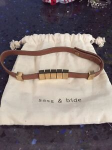 Sass and Bide brown leather necklace choker brand new Kenthurst The Hills District Preview