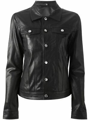 BLK DNM LEATHER JACKET 6 BLACK SMALL *NEW*