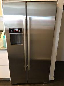 BOSCH side by side Fridge/Freezer stainless steel EUC Newstead Launceston Area Preview