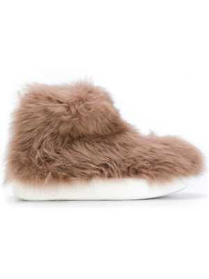 PETER NON NWT $495 Allover Camel Faux Fur Back Zip Sneaker Boots Sz 38 IT/ 8 US