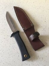 Muela hunting skinning knife with leather sheath Baulkham Hills The Hills District Preview