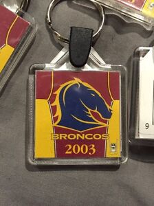 Brisbane Broncos 2003 NRL keychain key tag Rugby League Kings Park Blacktown Area Preview