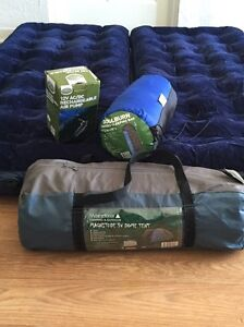 Full camping set - Dome tent with 2x mattress, pump and sleeping bag Fremantle Fremantle Area Preview