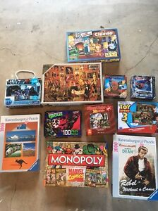 Selection of board games and puzzles bulk lot Springfield Lakes Ipswich City Preview