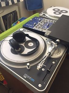 DJ turntables, Mixer, vinyl records Henley Beach South Charles Sturt Area Preview