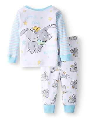 Disney Baby Pajamas (DISNEY BABY DUMBO BLUE LS PAJAMAS SIZE 9 12 18 24 MONTHS)