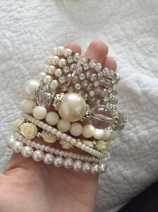 Bulk pearl white rose bangles bracelets Newcastle Newcastle Area Preview