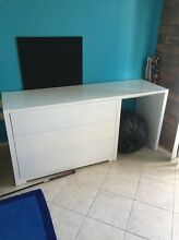 White Drawers with Desk Coombabah Gold Coast North Preview