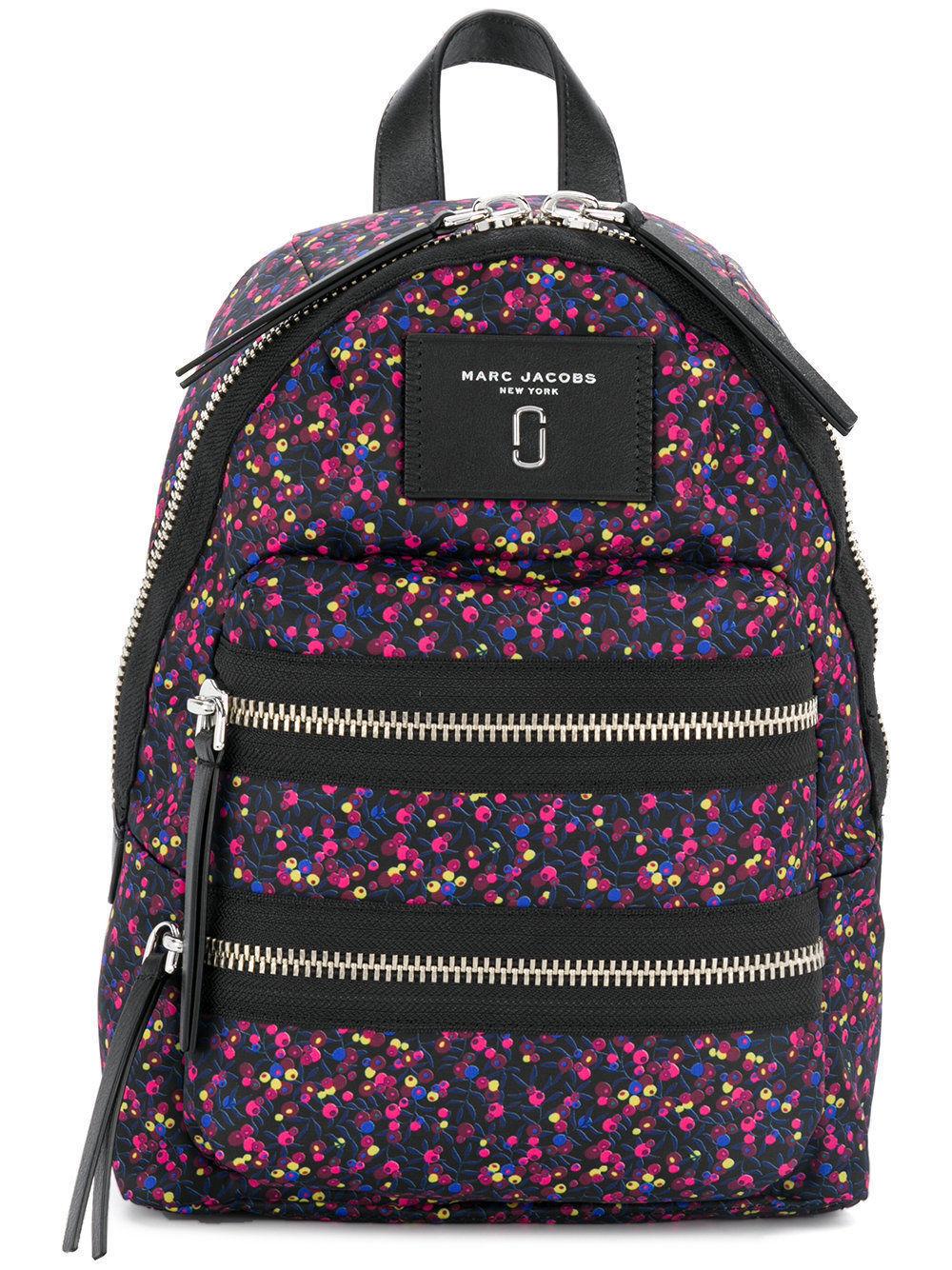 7977572cef1 Marc Jacobs Mixed Berries Nylon Mini Biker Backpack Blue BLK Pink ...