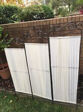 Iron metal folding divider screen display in great condition Cammeray North Sydney Area Preview