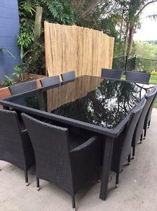 11 piece wicker outdoor dining set Slacks Creek Logan Area Preview