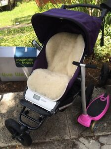 Mountain Buggy Urban single with bassinet and covers and scooter Forestville Warringah Area Preview