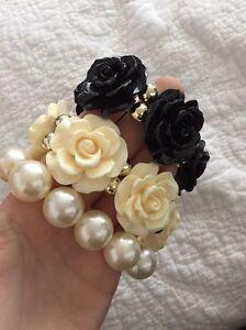 Big white black rose bangles bracelets Newcastle Newcastle Area Preview