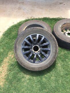 Holden Colorado Z71 rims and tyres