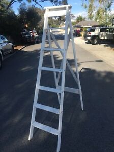 Old style wooden ladder Swanbourne Nedlands Area Preview
