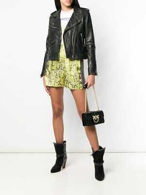 ❤NWT Pinko SIMPLY MINI LOVE BAG IN LEATHER Black Gold
