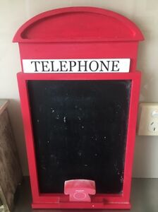 British phone box style chalkboard Darling Point Eastern Suburbs Preview