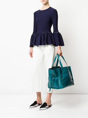 NEW J&M DAVIDSON Medium Belle turquoise shoulder handbag £750 MADE IN ITALY