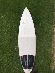 Trigger Brothers Shortboard Surfboard 5'11 W/FINS Point Leo Mornington Peninsula Preview
