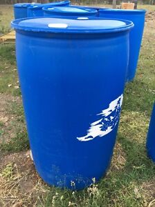 200ltr blue plastic drums Karrabin Ipswich City Preview