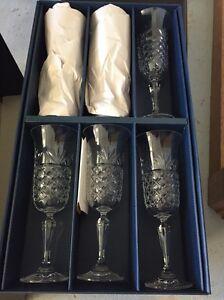 Bohemia Crystal flutes and decanter Aberfoyle Park Morphett Vale Area Preview