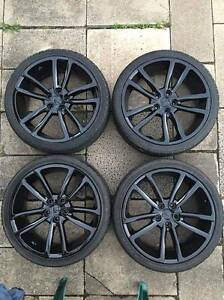 """4X 20"""" GENUINE SUPERSPORTS WHEELS GLOSS BLACK ONO Tullamarine Hume Area Preview"""