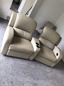 x2 leather recliners - cinema chairs Burleigh Waters Gold Coast South Preview