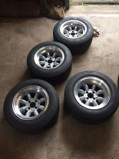 Fiat 124/131 Alfa wheels.  Kanwal Wyong Area Preview
