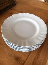 GLAMOUR celeste baby blue vintage dinner plates x 8 J&G MEAKIN Burleigh Heads Gold Coast South Preview