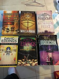 Assorted David Eddings, Raymond E Feist Books Canning Vale Canning Area Preview