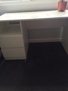 White desk with draws Heidelberg West Banyule Area Preview