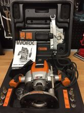 WORX ROUTER 1500W VARIABLE SPEED WITH ALL ACCESSORIES AS NEW Shell Cove Shellharbour Area Preview