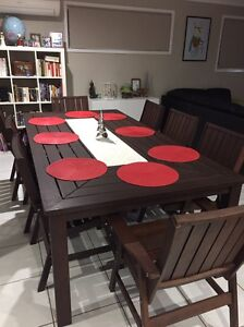 9 piece outdoor setting Springfield Lakes Ipswich City Preview