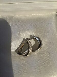 Genuine White gold and diamond huggie earrings Ringwood East Maroondah Area Preview