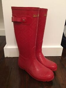 Women's patterned red gumboots - size 9 New Farm Brisbane North East Preview