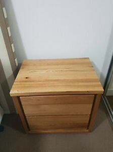 2x Avenue 2 Drawer Bedside Table in Natural RRP $1158 Burwood Heights Burwood Area Preview