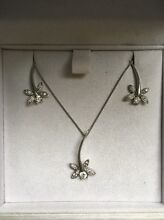"""Hearts on fire"" diamond pendant and earring set Chadstone Monash Area Preview"