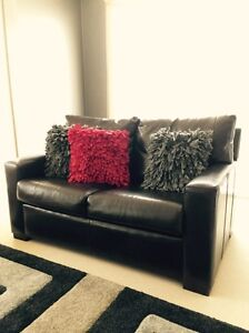 Freedom Dark Brown Leather 2 & 1 Seater Jerrabomberra Queanbeyan Area Preview